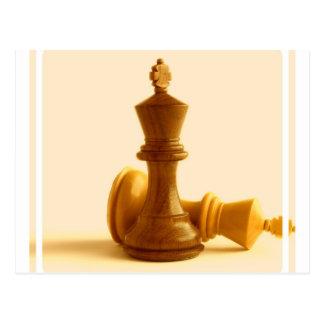 Carte postale d'échec et mat d'échecs