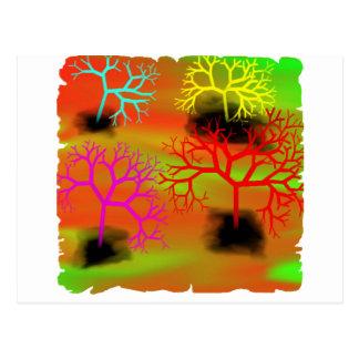 Carte Postale Déchirure des arbres par suicide de Chrystal