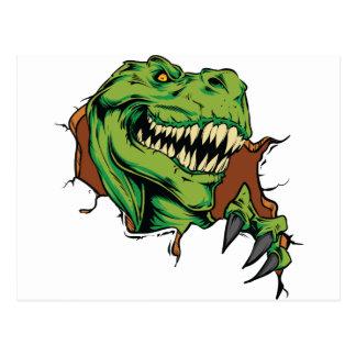 Carte Postale Déchirures de T Rex
