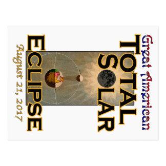 Carte postale d'éclipse