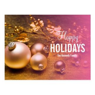 Carte Postale Décoration d'arbre de Noël dans le métro d'or