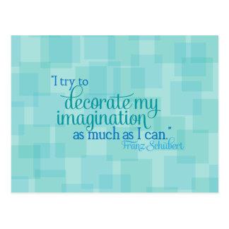 Carte Postale Décorez mon imagination
