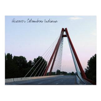 Carte Postale Découvrez le pont en St de Columbus Indiana