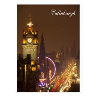 Carte postale d'Edimbourg