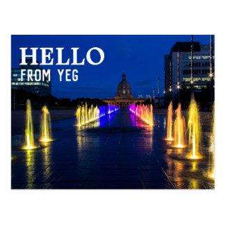 Carte postale | d'Edmonton, Alberta bonjour de YEG