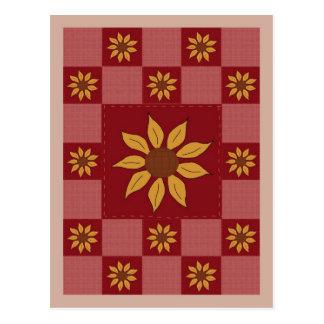 Carte postale d'édredon de tournesol