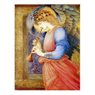 Carte postale d'Edward Burne-Jones d'ange de Noël