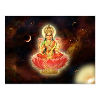 Carte Postale Déesse de Maa Maha Lakshmi Devi Laxmi de la
