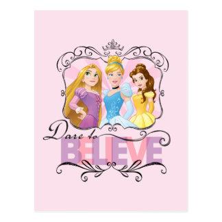Carte Postale Défi des princesses   de Disney à croire