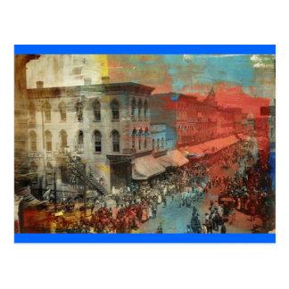 Carte Postale Défilé 1886 de cirque de Kansas City