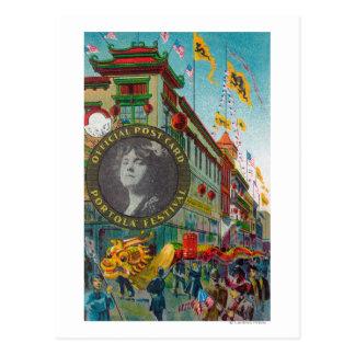 Carte Postale Défilé de Chinatown pour le festival de Portola