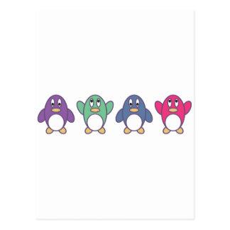 Carte Postale Défilé de pingouin