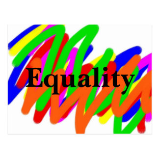 Carte postale d'égalité de griffonnage
