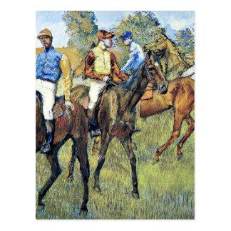 Carte Postale Dégazez - les chevaux de course, 1878,