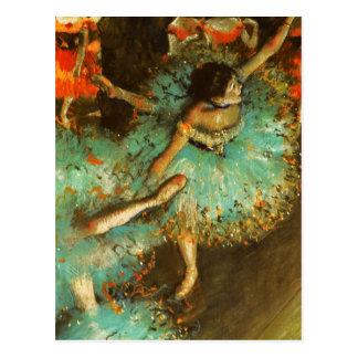 Carte Postale Dégazez l'impressionniste vert de ballet de