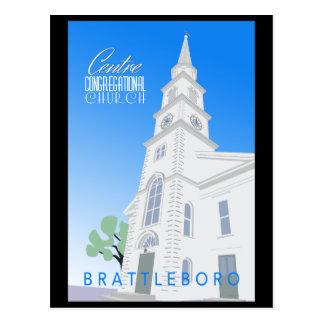 Carte postale d'église en assemblée de centre