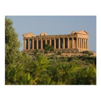Carte Postale Dei Templi, 4 de l'Italie, Sicile, Agrigente,