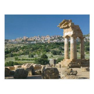 Carte Postale Dei Templi de l'Italie, Sicile, Agrigente, Valle