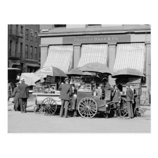 Carte Postale Déjeuner Carts, 1906 de New York City