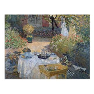 Carte Postale Déjeuner de Claude Monet | : Le jardin Argenteuil