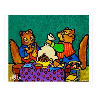 Carte Postale Déjeuner d'écureuils par Piliero