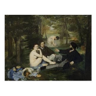 Carte Postale Déjeuner sur l'herbe par Edouard Manet