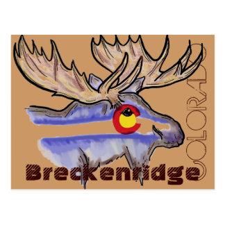 Carte postale d'élans de Breckenridge le Colorado