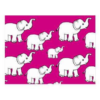 Carte postale d'éléphant de griffonnage