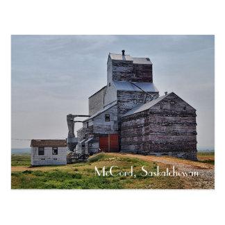 Carte postale d'élévateur à grains de McCord