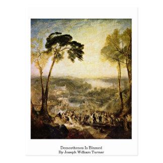 Carte Postale Démosthène est blâmé par Joseph William Turner