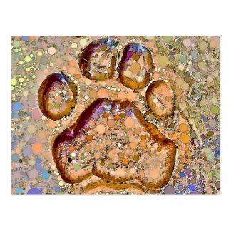 Carte postale d'empreinte de patte de tigre