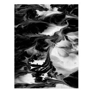 Carte Postale ~ d'ENCHANTEMENT (art abstrait noir et blanc)