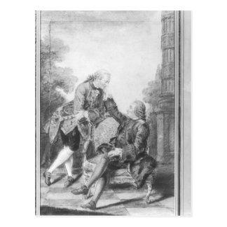 Carte Postale Denis Diderot et Melchior, baron de Grimm