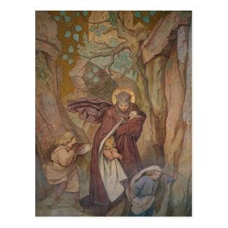 Carte Postale Départ de St Elisabeth au château de Wartburg