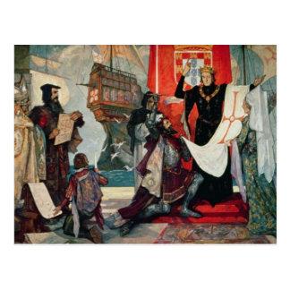 Carte Postale Départ pour le cap, le Roi Manuel I de