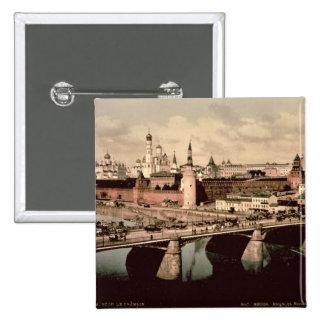 Carte postale dépeignant Kremlin, Moscou Badge