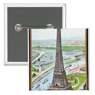 Carte postale dépeignant Tour Eiffel Pin's