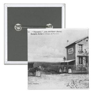 """Carte postale dépeignant un """"panorama"""" près d'Anto Badge Carré 5 Cm"""