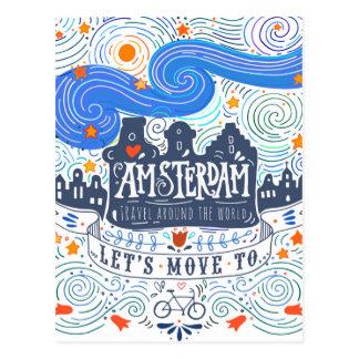 Carte Postale Déplaçons-nous à Amsterdam