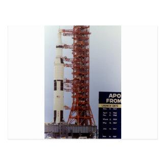 Carte Postale Déroulement de la NASA Apollo 15 Saturn V