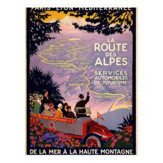Carte Postale DES Alpes d'itinéraire de La