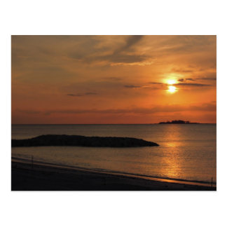 Carte postale des Bahamas de coucher du soleil