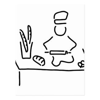 Carte Postale des boulangers pain cuisent