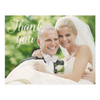 Carte postale des cartes de note de Merci de photo