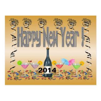 Carte postale des cocktails de nouvelle année