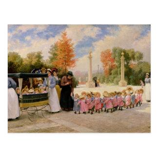 Carte Postale DES Enfants de promenade