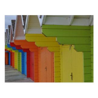 Carte postale des huttes III de plage de