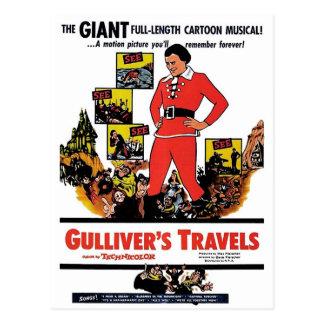 "Carte postale ""des voyages de Gulliver"""