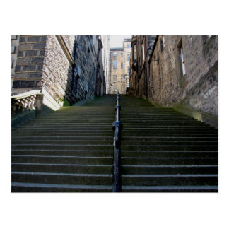 Carte postale d'escaliers d'Edimbourg