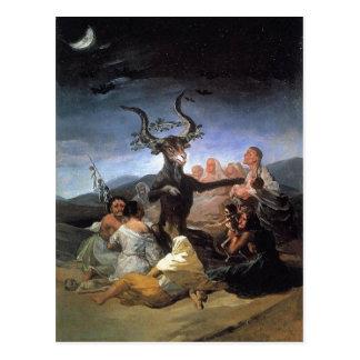 Carte Postale Description sommaire Francisco Goya, le Sabbat des